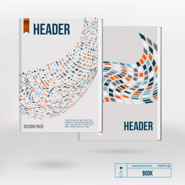 Vector creative brochure cover design templates with abstract geometric square backgrounds for your business. EPS10