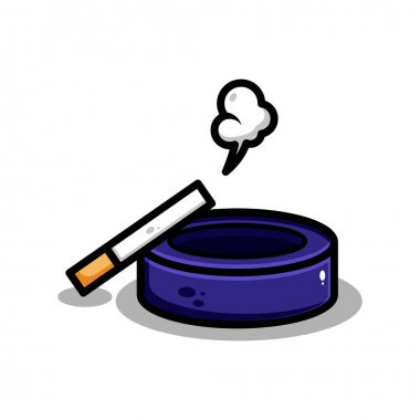 Vector cigarette illustration design. The cigarette with an outline is suitable for stickers, icons, mascots, logos, clip art, and other graphic purposes icon