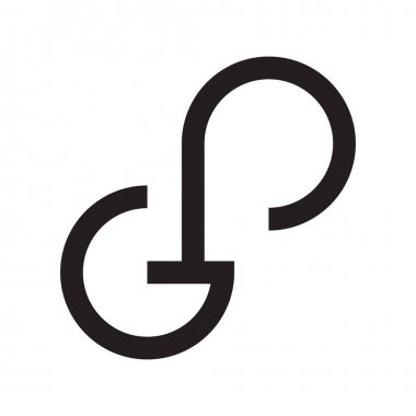 Gp initial letter vector logo icon icon