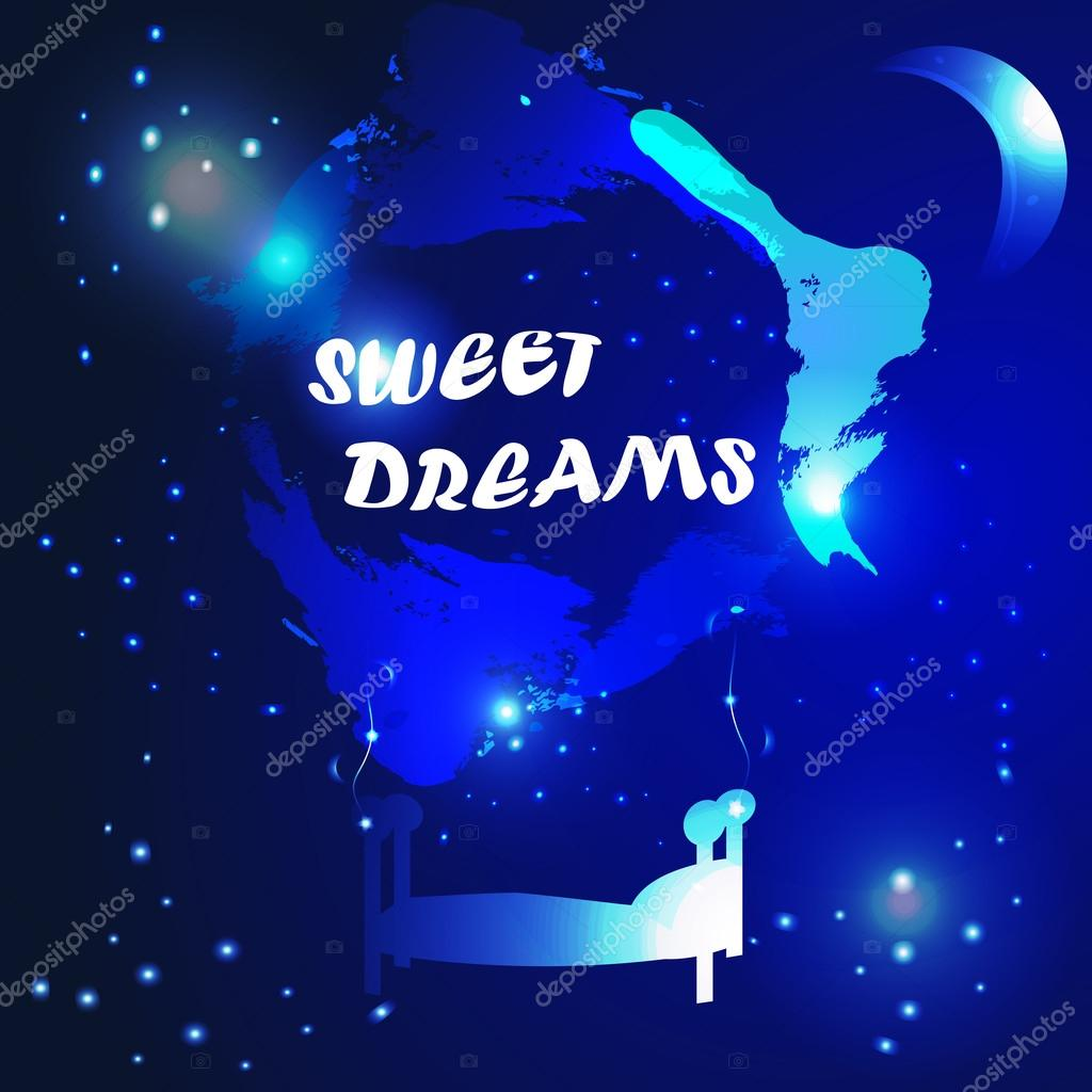 Abstract Sweet Dreams Background Stock Vector