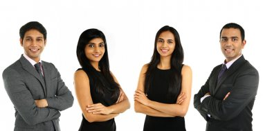 Asian Indian businessmen and businesswoman