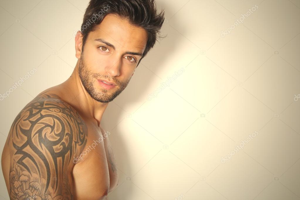 Handsome brown man