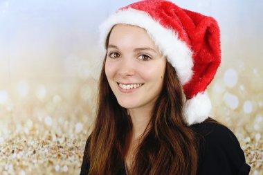 The Christmas season - young woman smiling