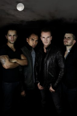 Young werwolves - 4 men in the dark forest