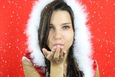 the christmas season - beautiful santa girl