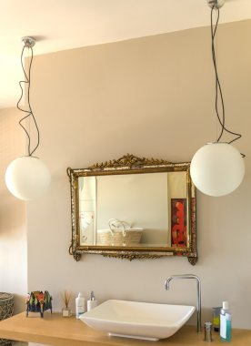 washbasin and mirror