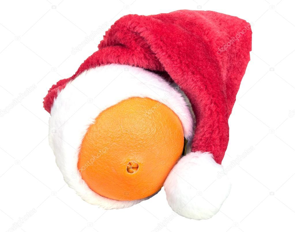 817e2a1bad53e gorro de Navidad en naranja — Fotos de Stock © mtv2020  87365940