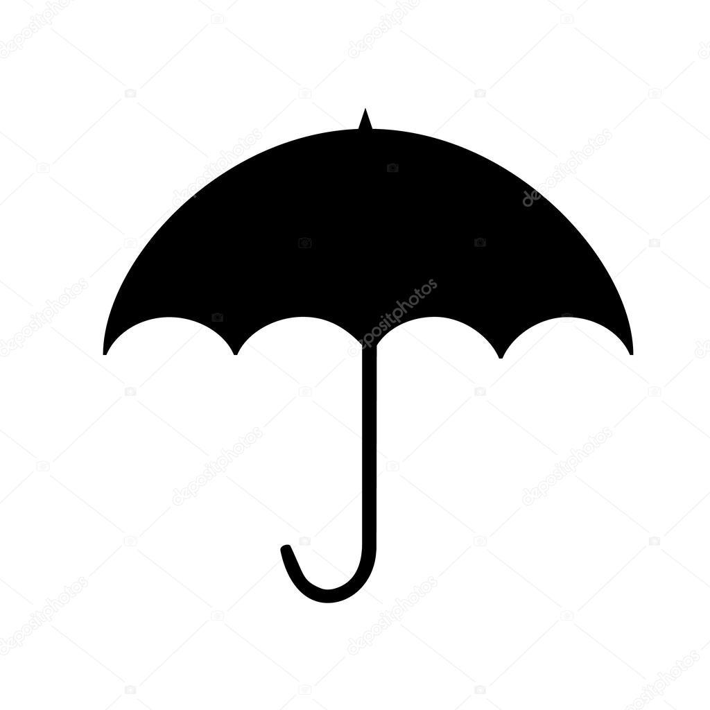 53045073dd25e Umbrella silhouette — Stock Vector © shabacadesigns #54389603