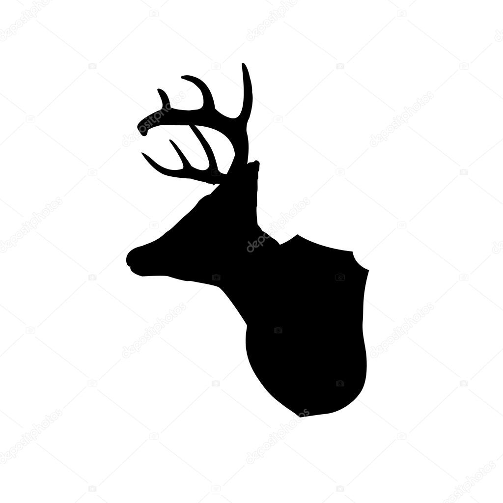 Mounted deer head silhouette