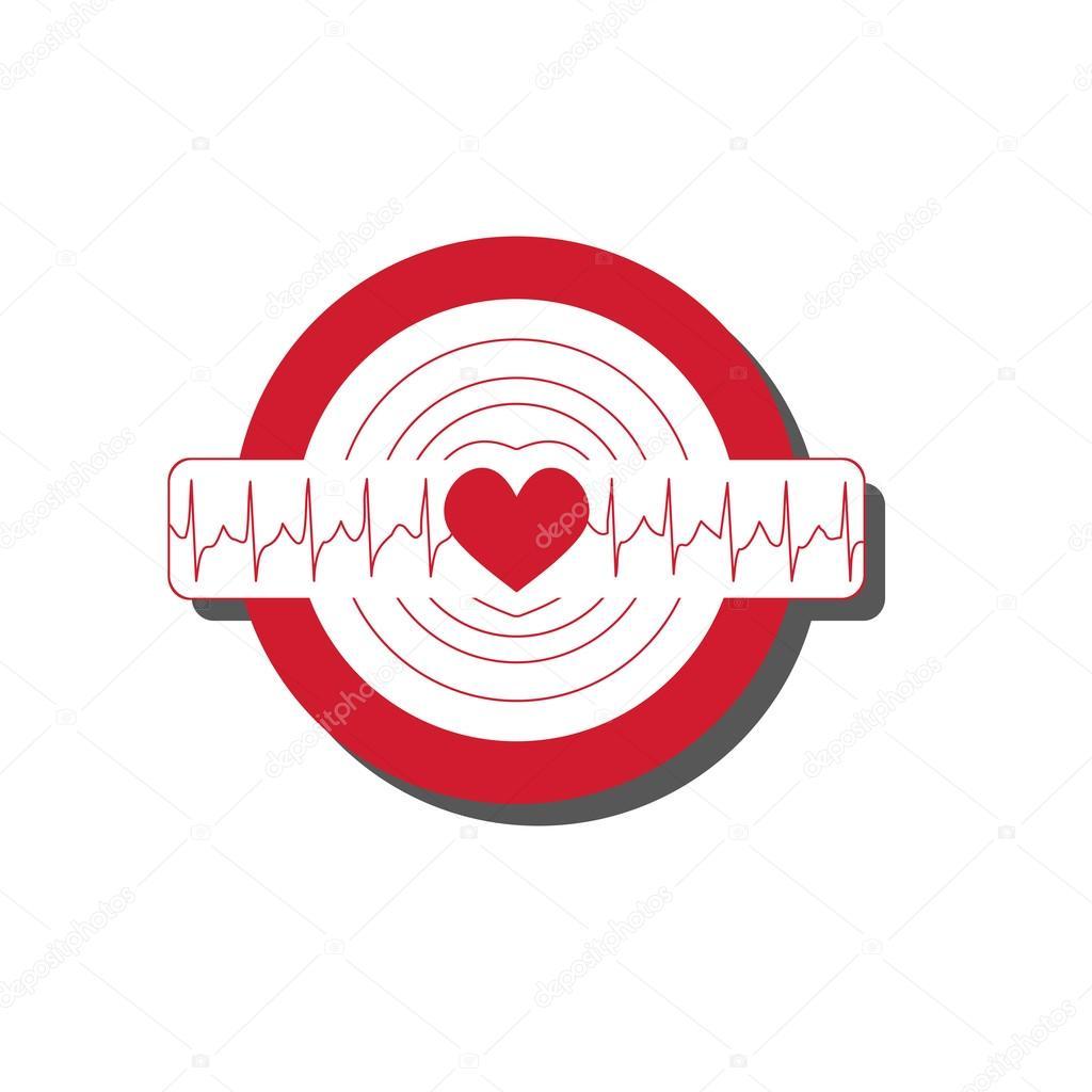 Vector Medical Illustration With Emblem Of Tachycardia Stock