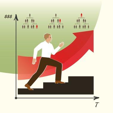 Career ladder infographics