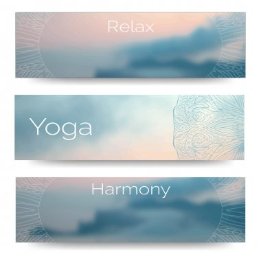 Banner design for yoga studio