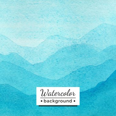 Vector illustration. Watercolor landscape with mountains. The template for the poster, cover, advertising. Blurred landscape with watercolor texture. Handmade picture for background, backdrop. clip art vector