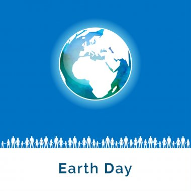 Poster for Earth Day in fresh colors