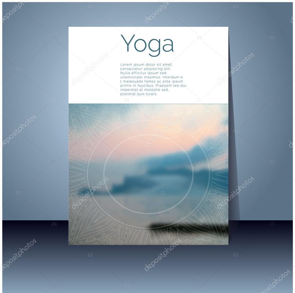 Banner design for yoga studio — Stock Vector © GL_Sonts #70032013