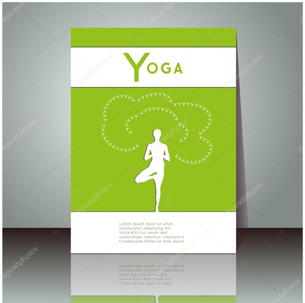 Poster design yoga - Yoga Vector Poster Professional Flyer Template Or Booklet Design For Yoga Studio For Publishing Print Or Presentation Cover Design With Yoga Pose And
