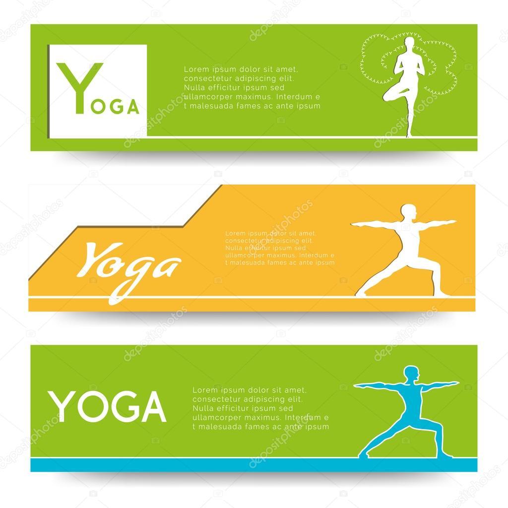 Banner Design For Yoga Studio Stock Vector C Gl Sonts 70033201
