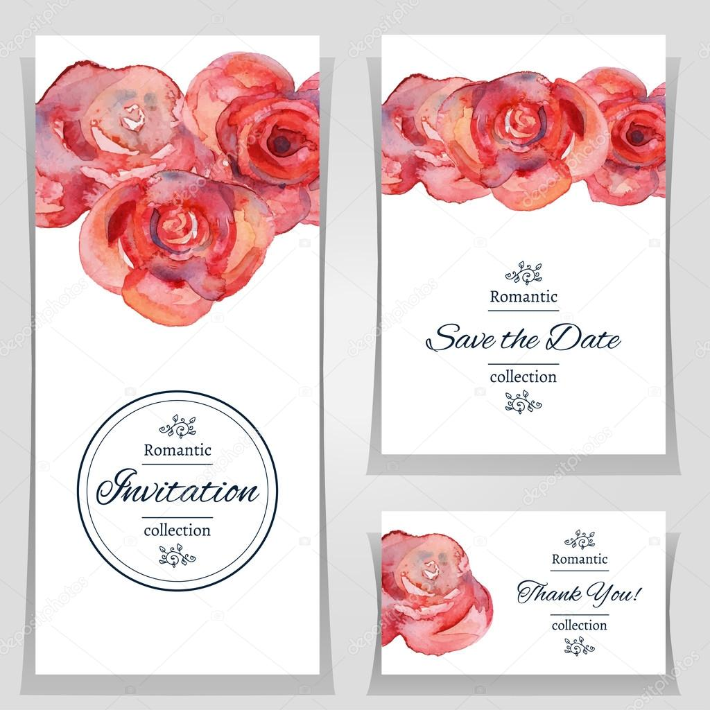 Save the date or wedding invitation templates