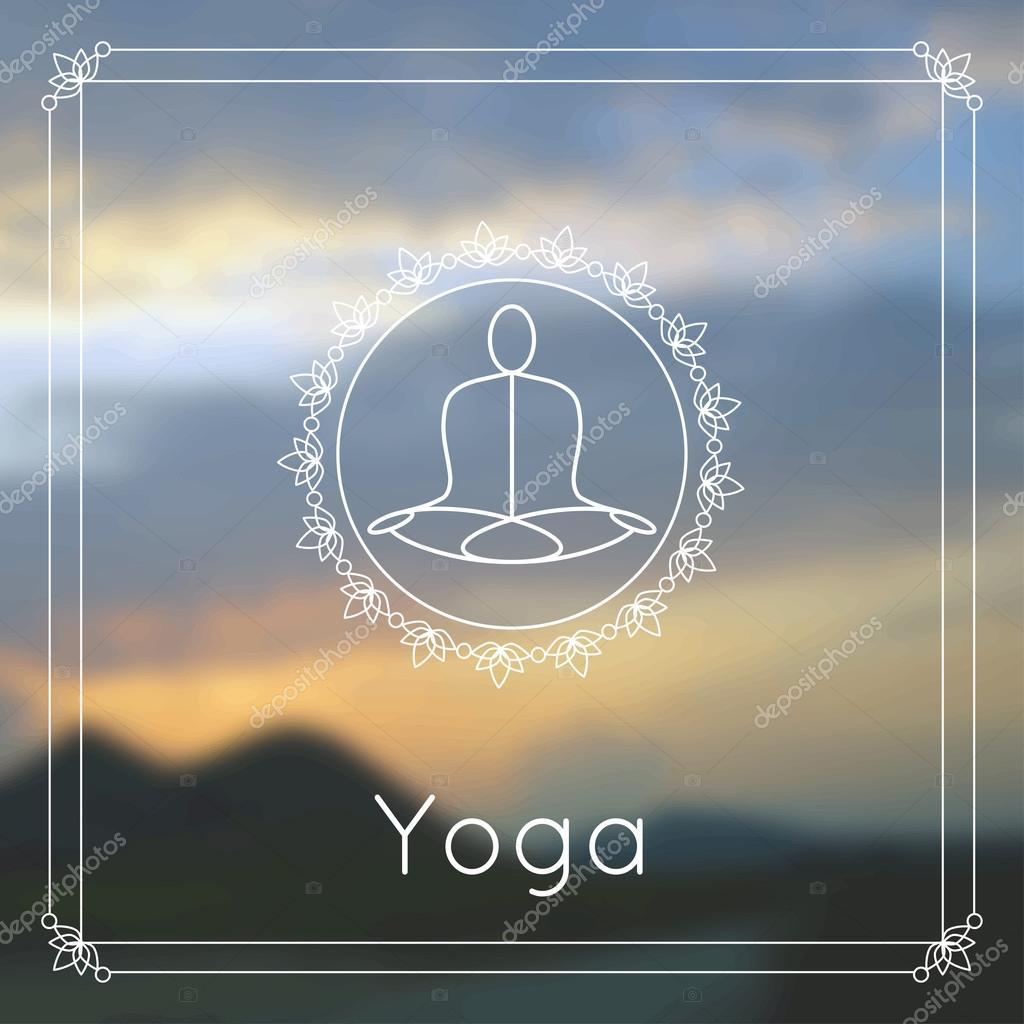 Vector yoga illustration.