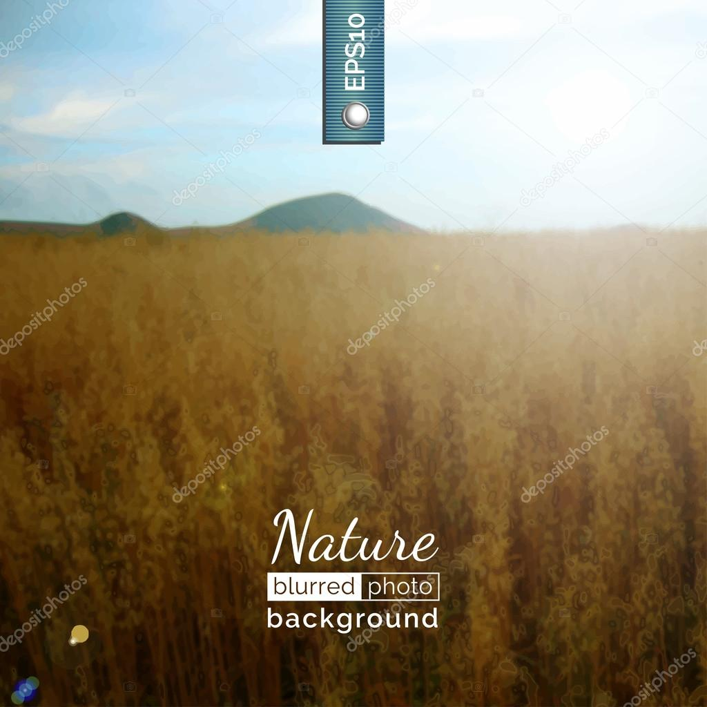 Backdrop with nature for poster