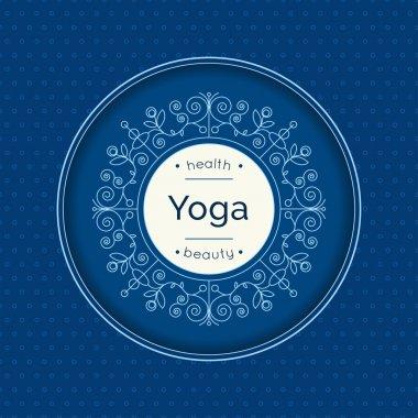 Yoga poster with elegant monogram.