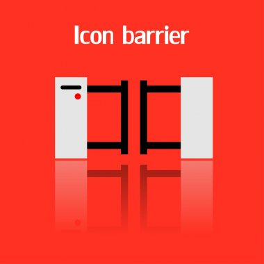 Icon barrier, vector illustration