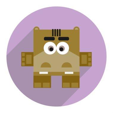 Icon of cute hippopotamus.