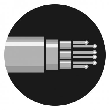 Optic cable icon