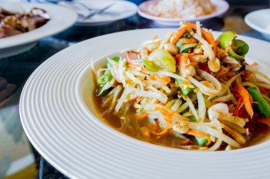 Thai papaya salad,Som tum.
