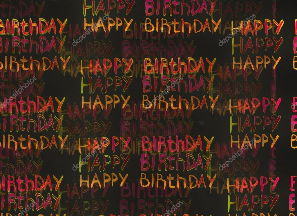 Inscription happy birthday watercolor stock photo multi colored inscriptions happy birthday watercolor on a black background it is possible to use as backgrounds or cards for a congratulation photo by bookmarktalkfo Choice Image