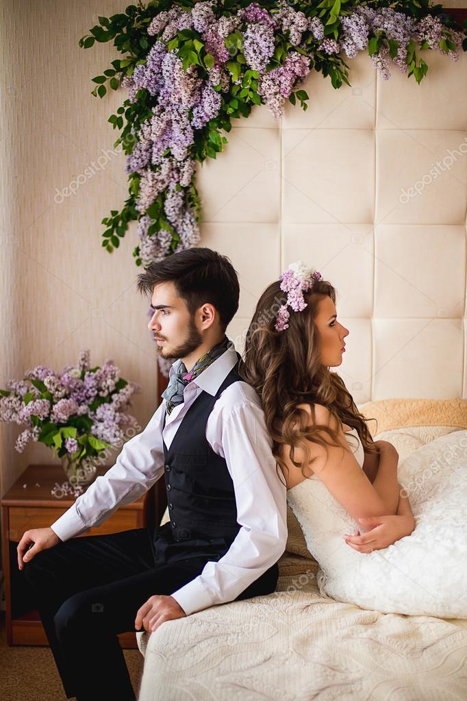 Фото невесты в постели камера осмотре