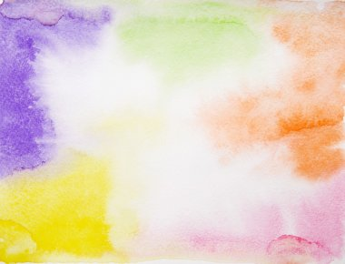 colorful spots water color