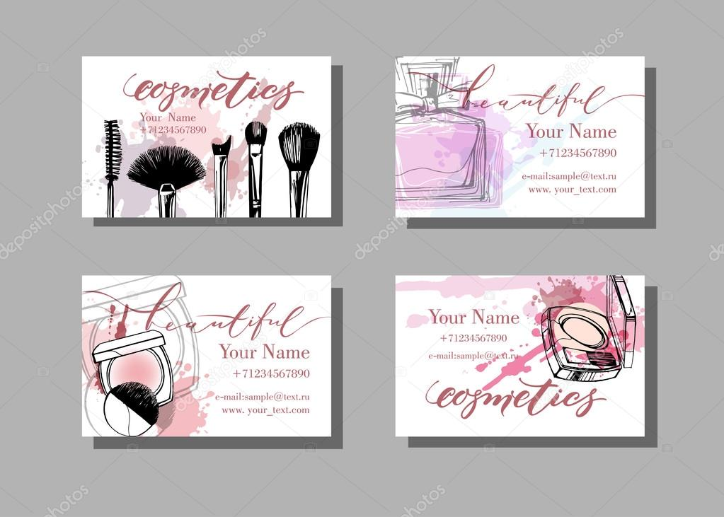 Makeup artist business cards — Stock Vector © Galina72 #122946672