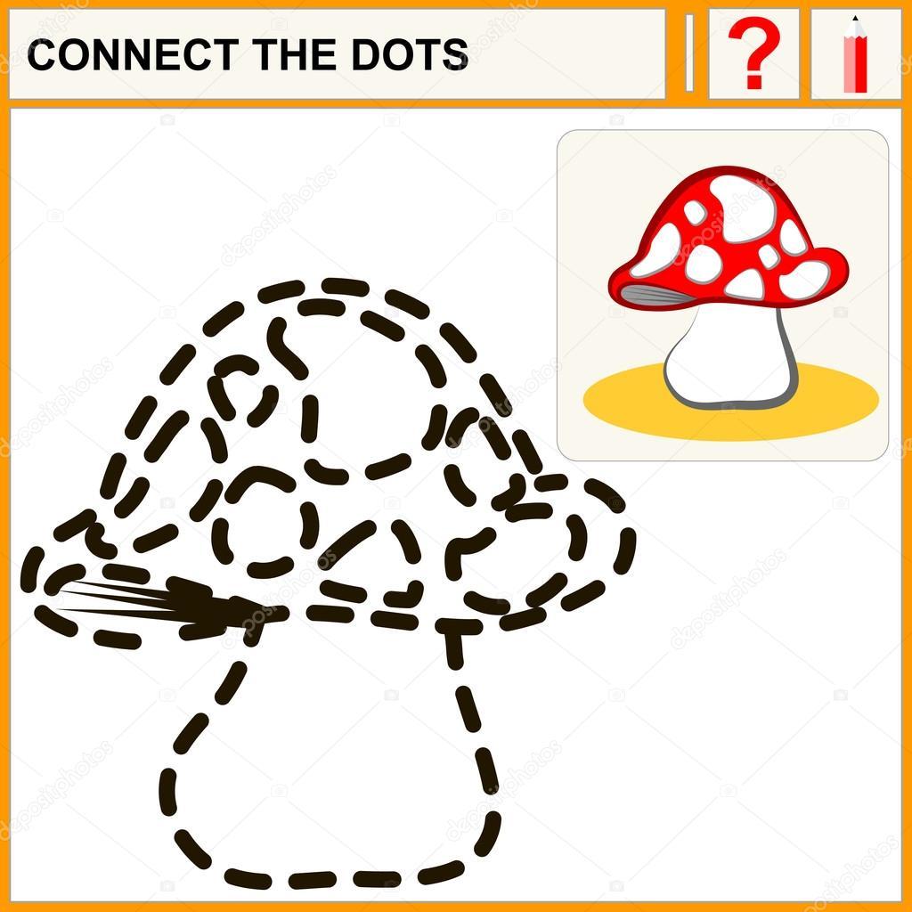Verbinden Sie die Punkte, die Vorschule Übung Aufgabe für Kinder ...
