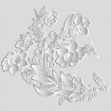 Russian floral pattern. vector illustration