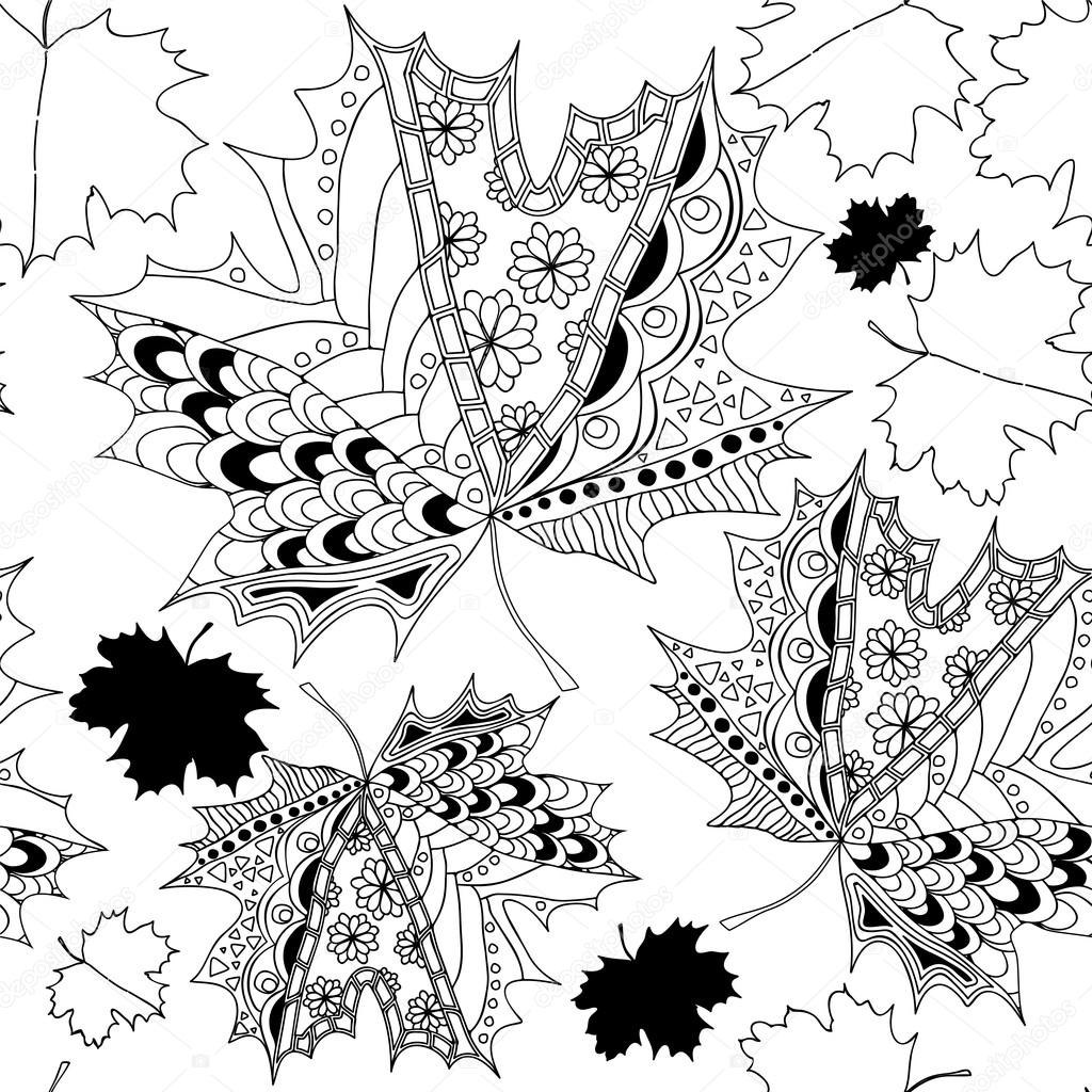 Картинки Чёрно Белые Осень