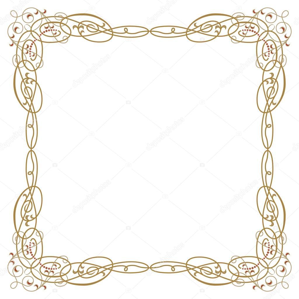 marco de frontera de lujo con esquinas recargados detalladas ...