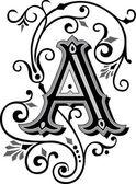 krásně zdobené anglické abecedy, písmeno