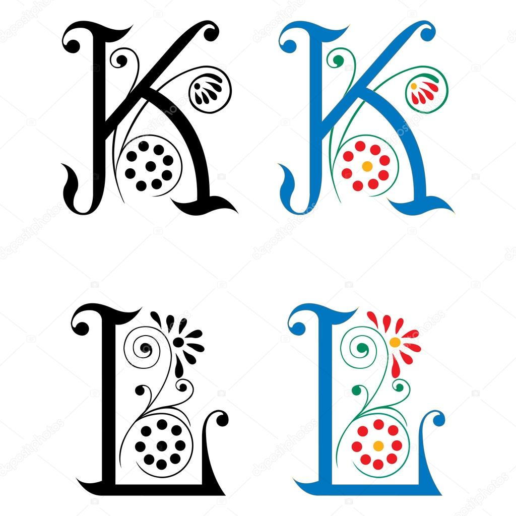 Spring Style Basic Decoration English Alphabets Letter K And L