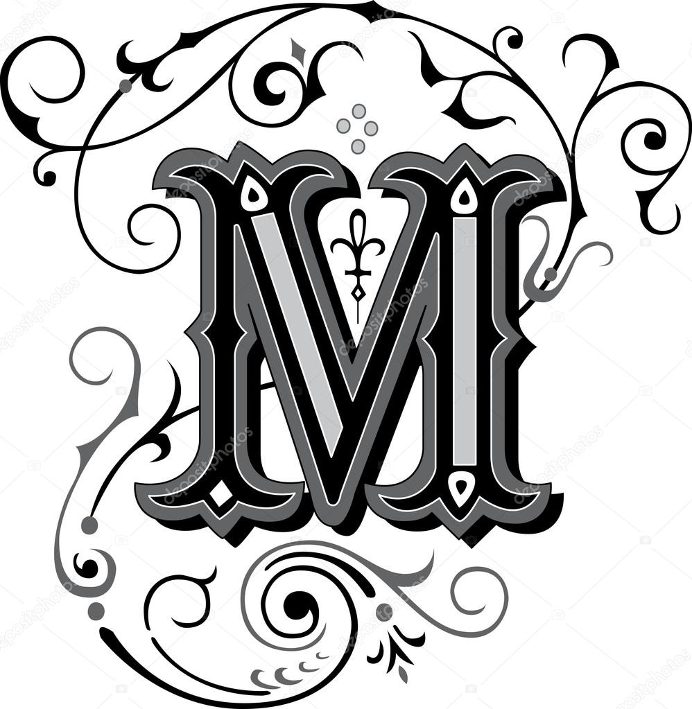 magnifiquement d cor es des alphabets anglais lettre m. Black Bedroom Furniture Sets. Home Design Ideas