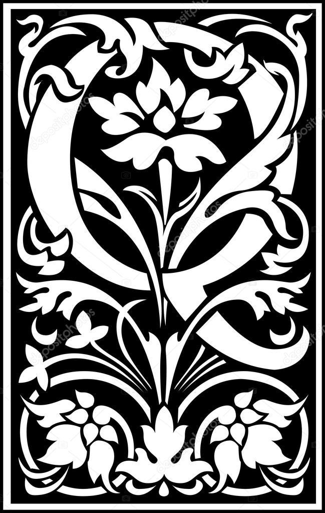 Español las letras del alfabeto decoradas con flores y hojas de la ...