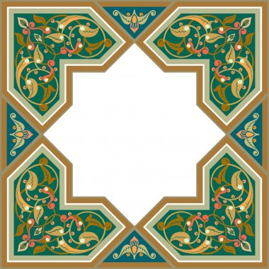 Arabesque pattern with detailed ornament