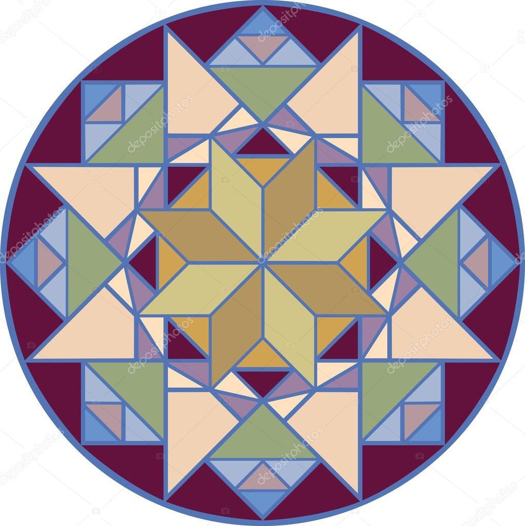 padrão de mosaico em desenho vetorial colorida e editável vetor de