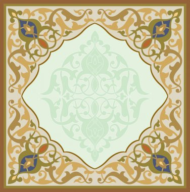 Oriental ornament vector design in colorful seamless pattern