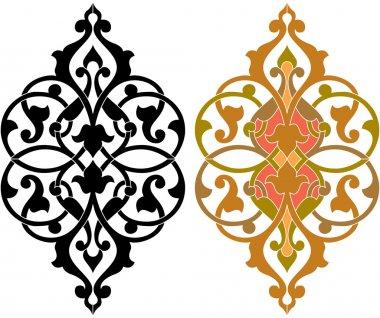 Oriental decorative design elements