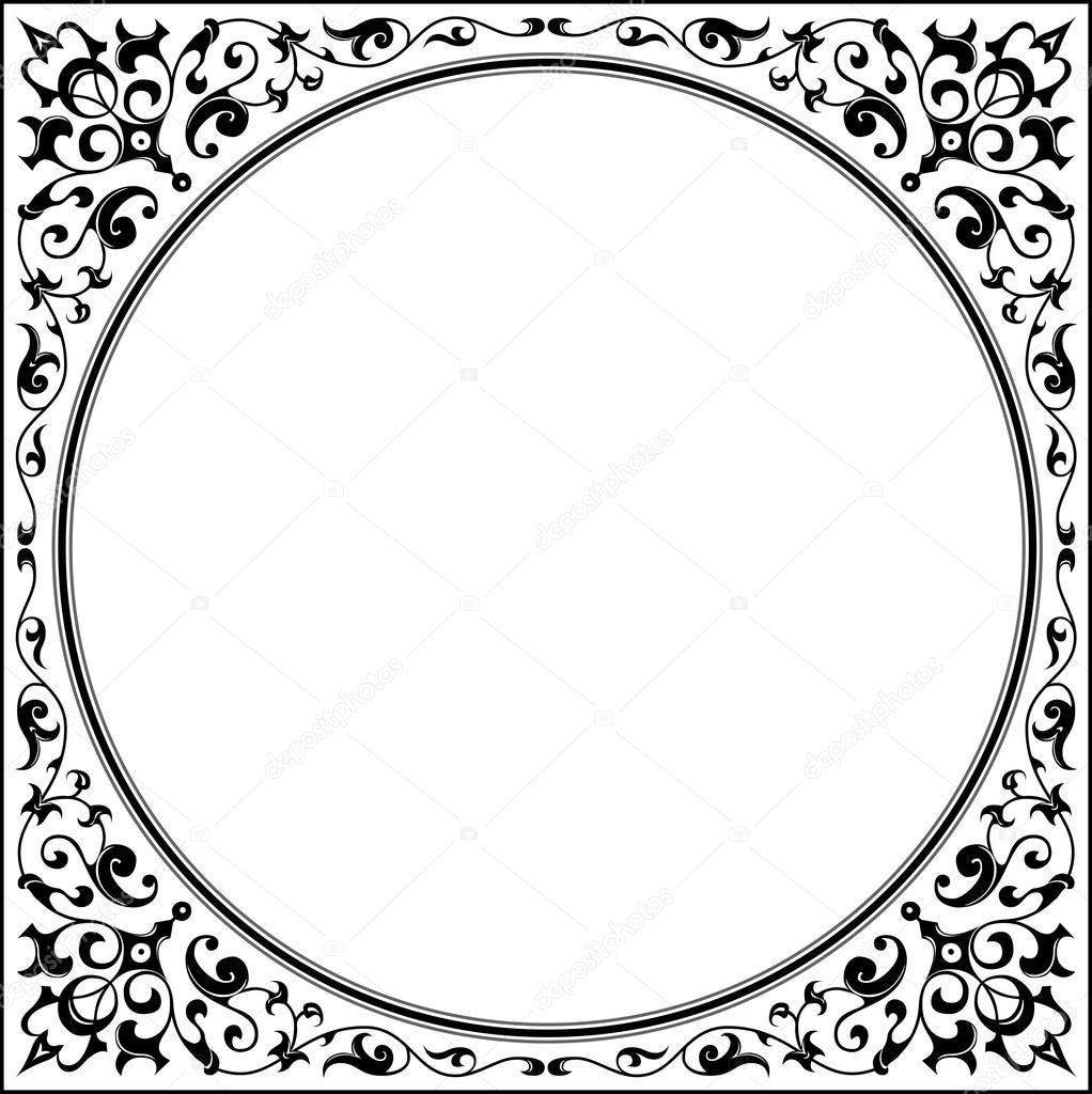 marco adornado oriental — Archivo Imágenes Vectoriales © HuangArt ...