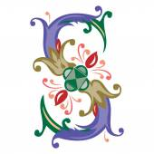Fotografie Colorful English alphabets - plant style - Letter S