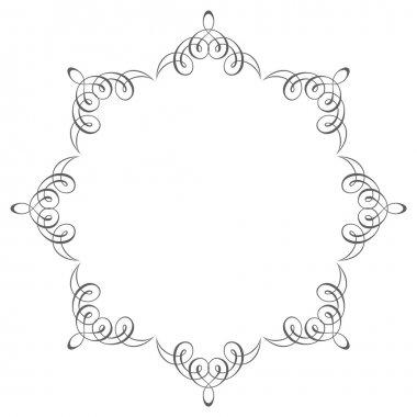 Decorative round frame. Ancient art