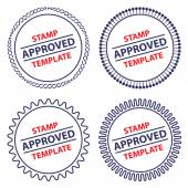 Circle stamp template, security design