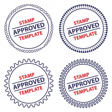 Circle stamp template, security design clip art vector